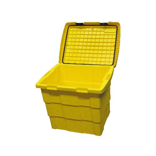 coffre à sel et sable 110 L jaune