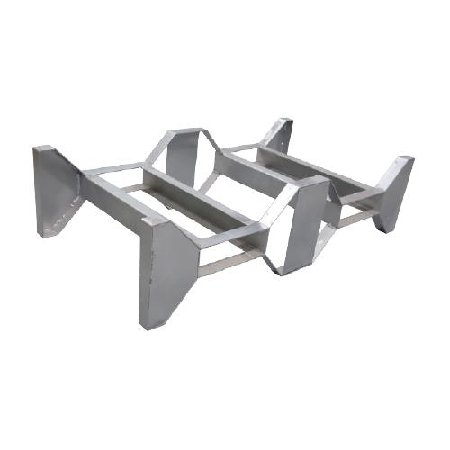 Support pour 2 fûts en acier galvanisé stockage fut