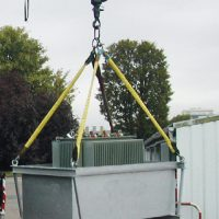 Bac élingable pour le stockage et le transport des transformateurs