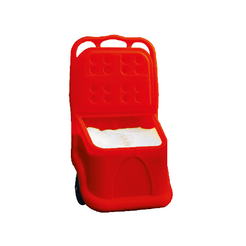 Coffre roulant 75 L rouge