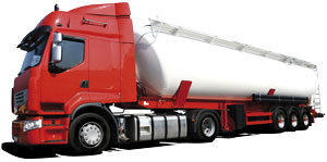 Camion de transport de matières dangereuses