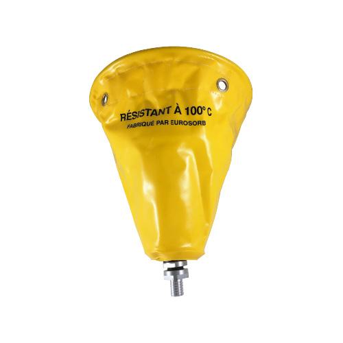 bâche antifuite : collecteur de fuite jaune