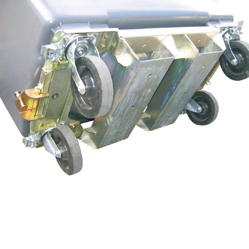 renfort de cuve et passage de fourche conteneur 4 roues