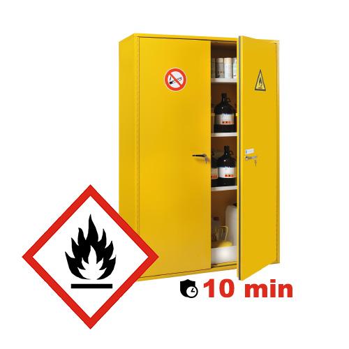 Armoire de sécurité pour produits inflammables avec résistance au feu de 10 minutes