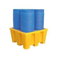 Bac de rétention pour 4 fûts en polyéthylène 880 L