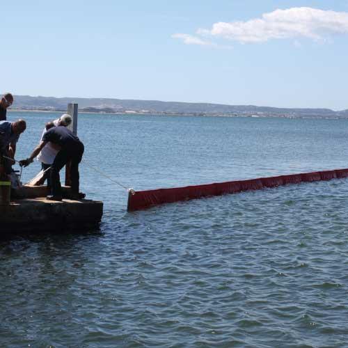 Barrage pour travaux maritimes
