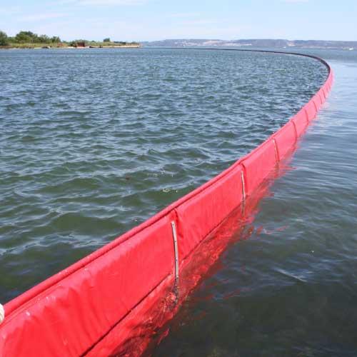 Barrage antipollution à flotteur plat