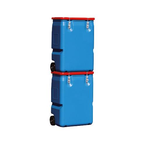 bac mobile en polyéthylène