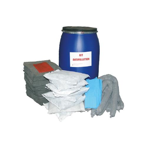 Fût intervention antipollution en fûts 238 Litres hydrocarbures tous liquides produits chimiques