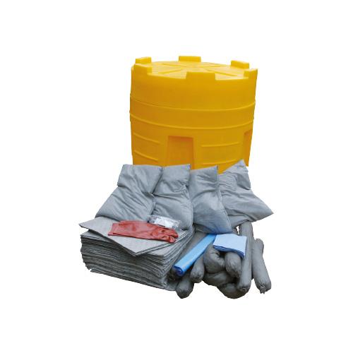 Kit surfût d'intervention antipollution 125 litres déversements hydrocarbures tous liquides produits chimiques