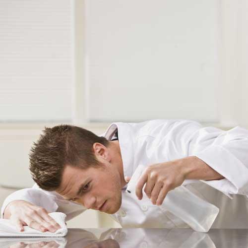 Tisdoux essuyage alimentaire restaurant graisses huile