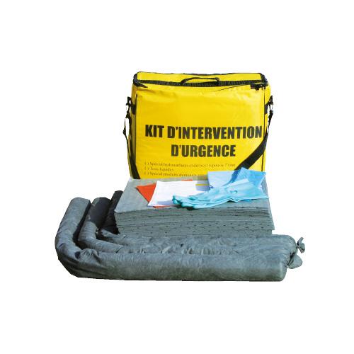 Kit anti-pollution d'intervention en sac 90 L pollution hydrocarbures tous liquides produits chimiques
