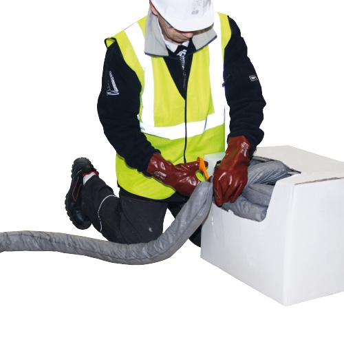 Boudin absorbant en carton distributeur