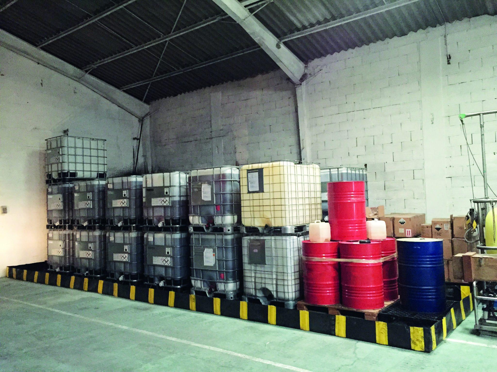 bacs souples Eurosorb rétention et stockage de produits dangereux