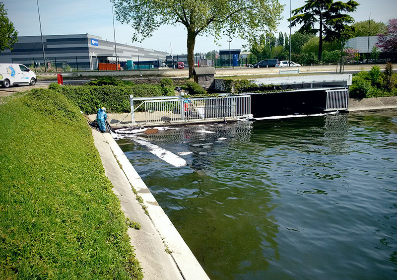 pollution accidentelle sur l'eau
