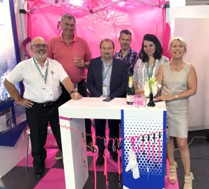 l'équipe d'Eurosorb au salon WNE 2018