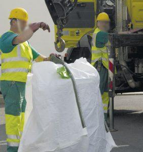 Utilisation des bigbags
