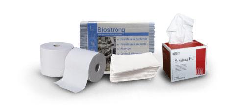 Différents formats d'essuyage industriel